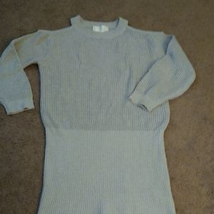 J.O.A  cold shoulder gray knit tunic sweater sz S